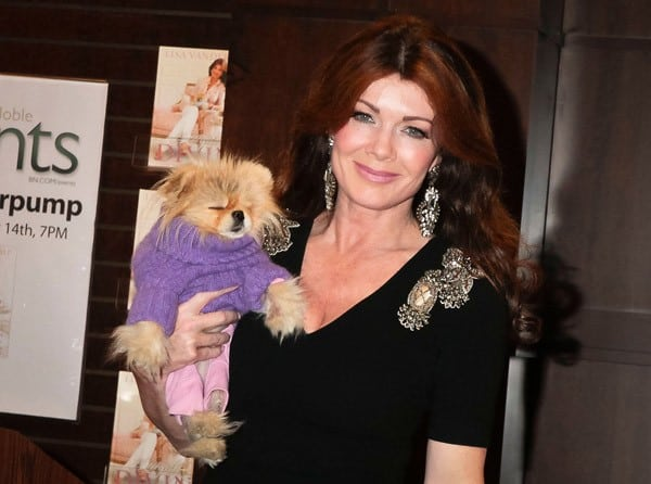 Lisa Vanderpump signs copies of her new book 'Simply Devine' at Barnes & Noble bookstore at The Grove on November 14, 2011 in Los Angeles, California.