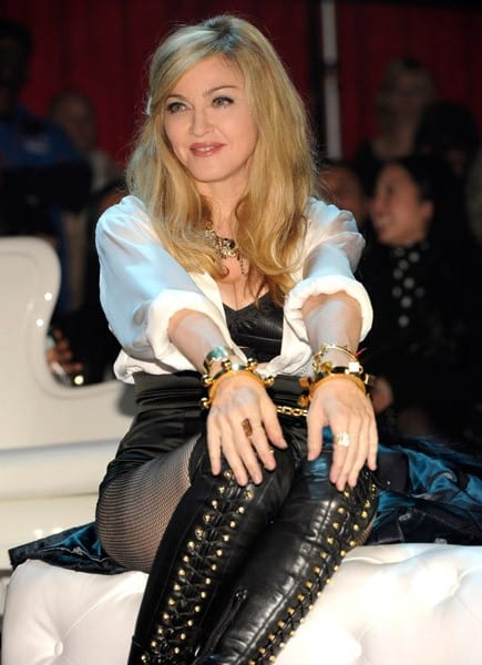 Madonna attends the Smirnoff Nightlife Exchange Project at Roseland Ballroom on November 12, 2011 in New York City.