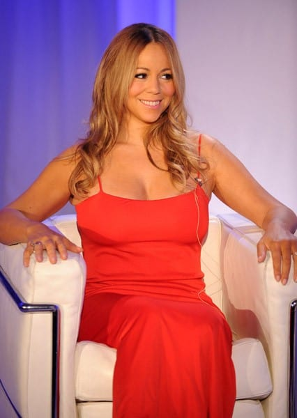 Singer Mariah Carey discusses her new relationship with Jenny Craig at Four Seasons Hotel New York on November 9, 2011 in New York City.