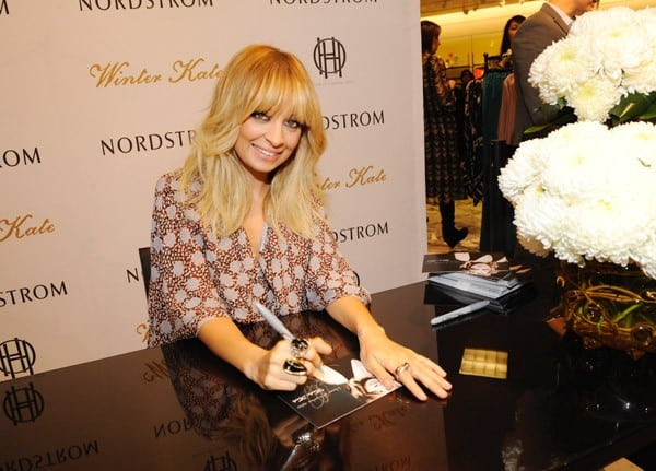 Fashion designer and television personality Nicole Richie meets fans at Nordstrom at the Grove as she promotes her Winter Kate and House of Harlow 1960 Fall Collections on November 10, 2011 in Los Angeles, California.