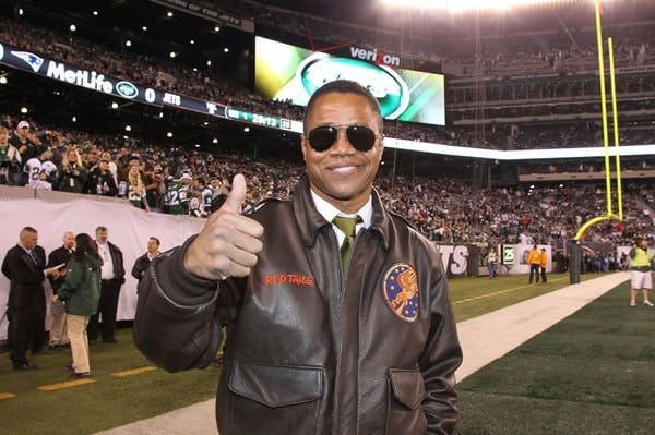 Actor Cuba Gooding, Jr. attends the New England Patriots Vs New York Jets game at the MetLife Stadium on November 13, 2011 in East Rutherford, New Jersey.