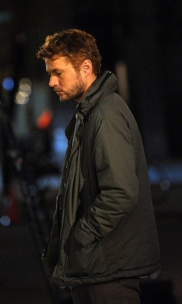 Ryan Phillippe filming on location for 'Damages' on November 9, 2011 on the Streets of Manhattan in New York City.