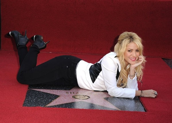 Shakira attends her Hollywood Walk Of Fame Ceremony on November 8, 2011 in Hollywood, California.