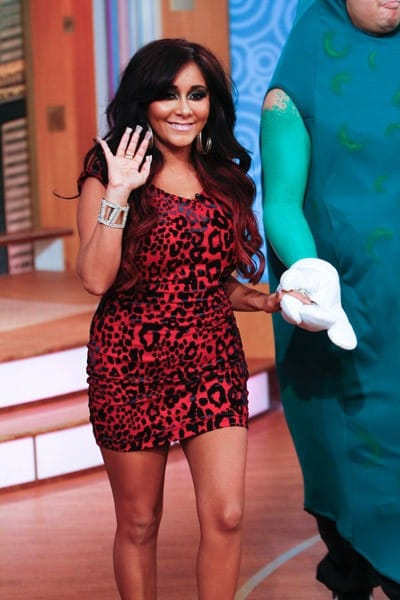 Nicole 'Snooki' Polizzi visits 'The Wendy Williams Show' at The Wendy Williams Show Studio on November 14, 2011 in New York City.