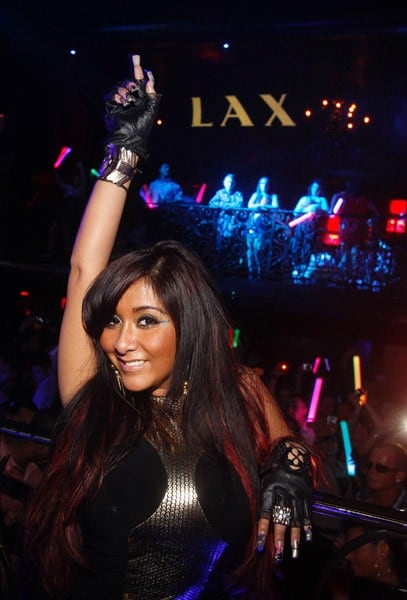 Nicole 'Snooki' Polizzi celebrates her 24th birthday at LAX nightclub on November 13, 2011 in Las Vegas, Nevada.