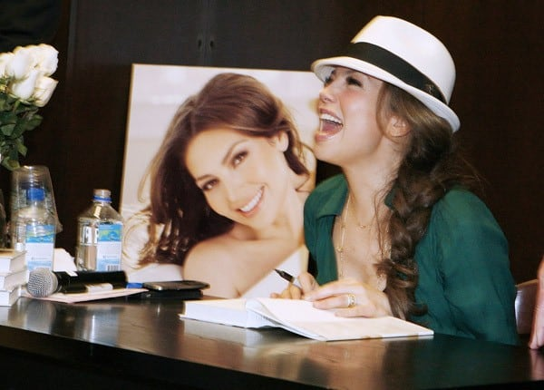 Thalia promotes 'Growing Stronger' at the Barnes & Noble on 82nd Street on November 1, 2011 in New York City.
