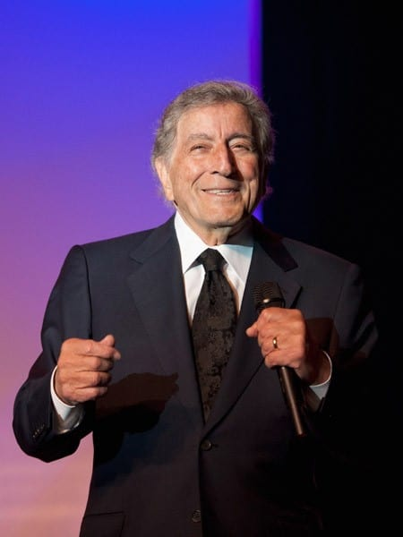 Tony Bennett performs at the Project Home Again gala benefit at the Sugar Mill on November 11, 2011 in New Orleans, Louisiana.