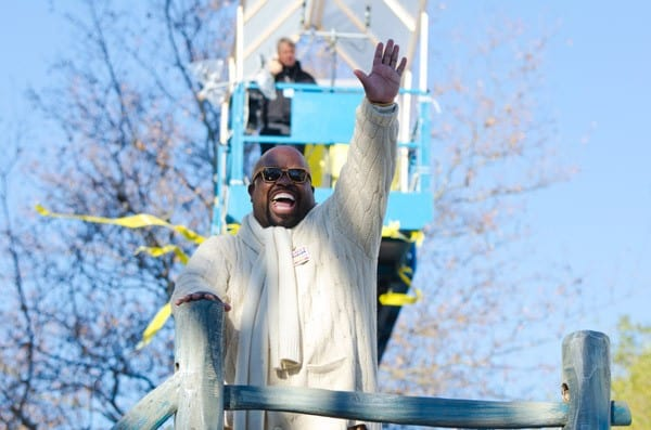 Cee Lo Green, Neil Diamond attends the 2011 Macy's Thangiving Day Parade in the Streets of Manhattan on November 24, 2011 in New York City.