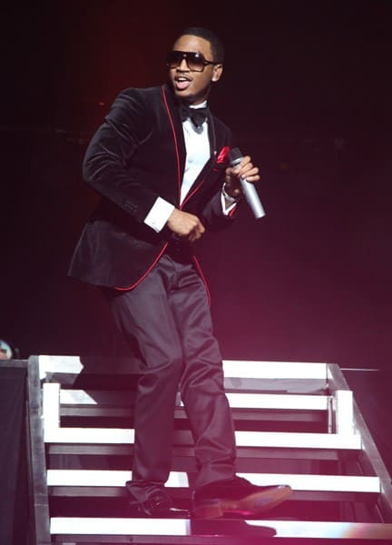 Trey Songz performs at the Hammerstein Ballroom on November 25, 2011 in New York City.