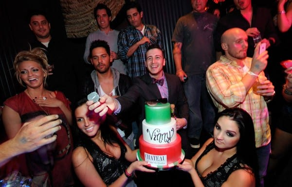Television personality Vinny Guadagnino celebrates his birthday at the Chateau Nightclub & Gardens at the Paris Las Vegas on November 11, 2011 in Las Vegas, Nevada.