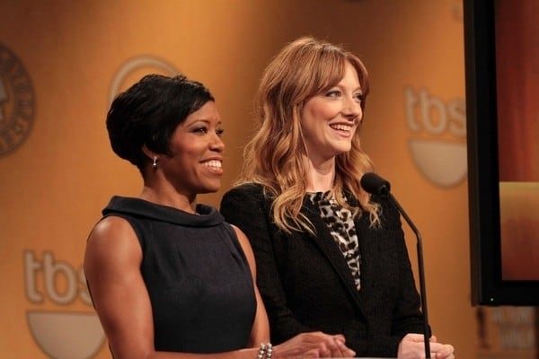 Judy Greer and Regina King Attend the18th Annual Screen Actors Guild Award Nominations at the Pacific Design Center in Los Angeles, California on December 14, 2011