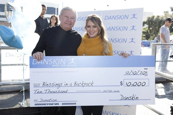 Hilary Duff and Danskin Skate for a Cause at ICE Skating Rink in Santa Monica, California on December 10, 2011