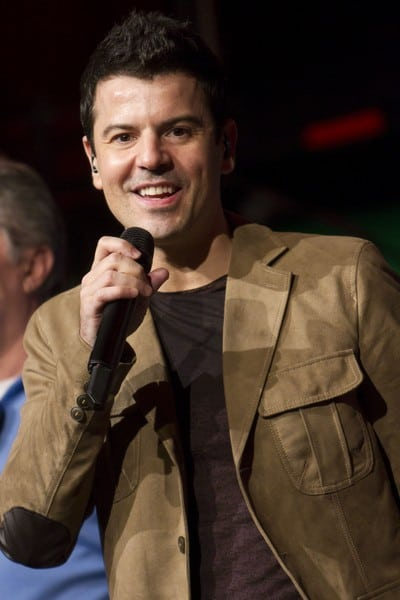 Jordan Knight and Joey McIntyre Perform at the 2011 CP24 Chum Christmas Wish Breakfast Show in Toronto, Canada on December 15, 2011.