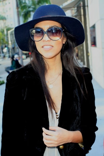 Kourtney Kardashian Is Seen Shopping on Rodeo Drive in Beverly Hills, California on December 20, 2011