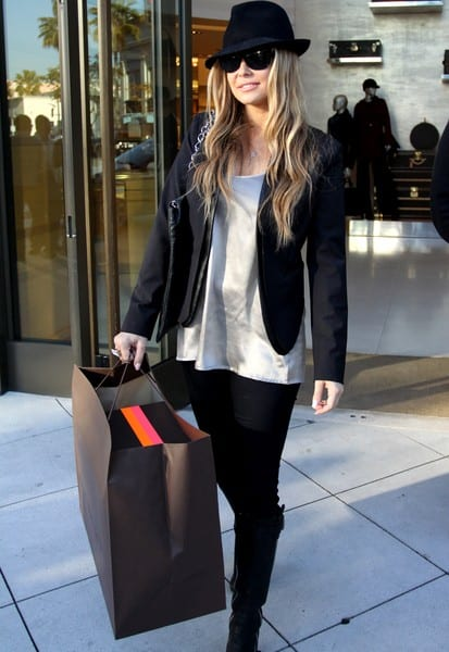 Carmen Electra Sighted Shopping at Louis Vuitton in Beverly Hills, California on December 20, 2011