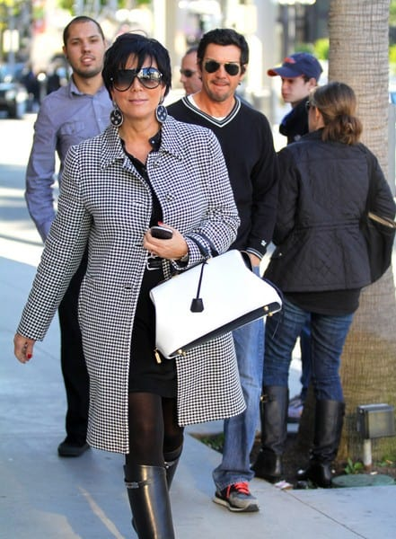 Kris Jenner is Seen Shopping on Rodeo Drive in Beverly Hills, California on December 22, 2011