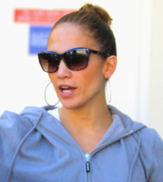 Jennifer Lopez is Seen Departing Valentino in Beverly Hills, California on December 27, 2011