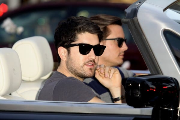 Rob Kardashian and Scott Disick Sighted Driving on Rodeo Drive in Beverly Hills, California on December 28, 2011