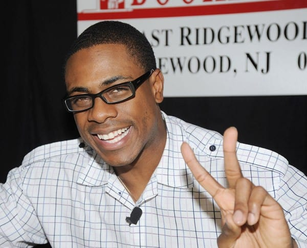 Curtis Granderson promotes 'All You Can Be' at Bookends Bookstore on November 30, 2011 in Ridgewood, New Jersey.