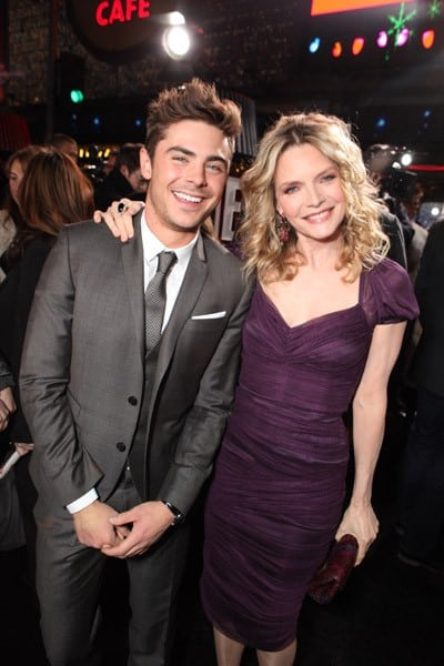 Zac Efron, Michelle Pfeiffer, Fergie, Lea Michele, Katherine Heigl, Director Garry Marshall at The World Premiere of Warner Bros. 'New Year's Eve' at Grauman's Chinese Theatre on December 5, 2011 in Hollywood, California.