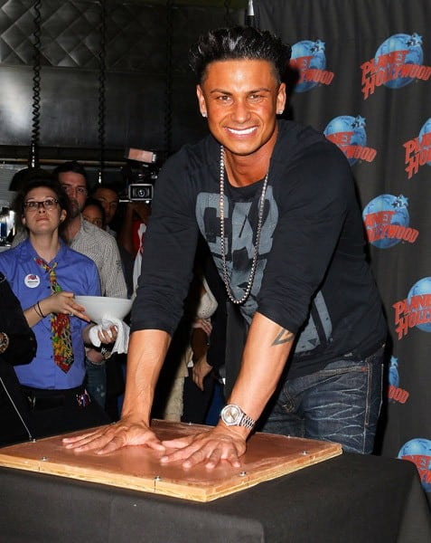 Paul 'Pauly D' DelVecchio visits Planet Hollywood Times Square on November 30, 2011 in New York City.