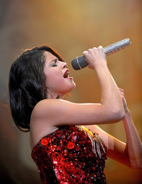 Singer Selena Gomez performs during the 107.9 'The End' 2011 Jingle Ball at Power Balance Pavilion on December 1, 2011 in Sacramento, California.