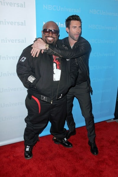 Cee-Lo Green, Adam Levine, Harry Hamlin, Lisa Rinna, Katharine McPhee, Tia Carrere and Arsenio Hall Attend the NBC Universal 2012 Winter TCA Press Tour All-Star Party in Pasadena, California on January 6, 2012