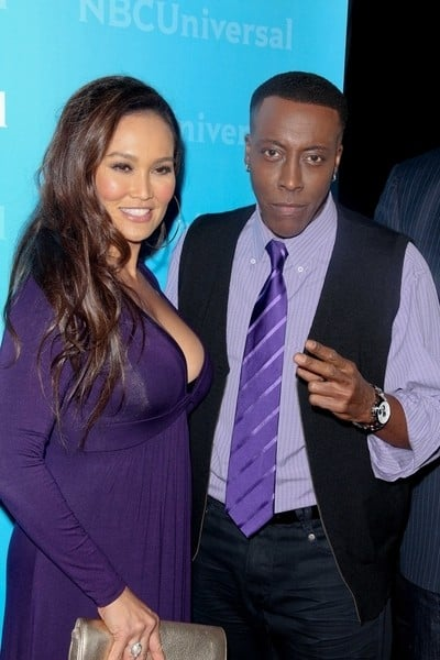 Tia Carrere and Arsenio Hall Attend the NBC Universal 2012 Winter TCA Press Tour All-Star Party in Pasadena, California on January 6, 2012