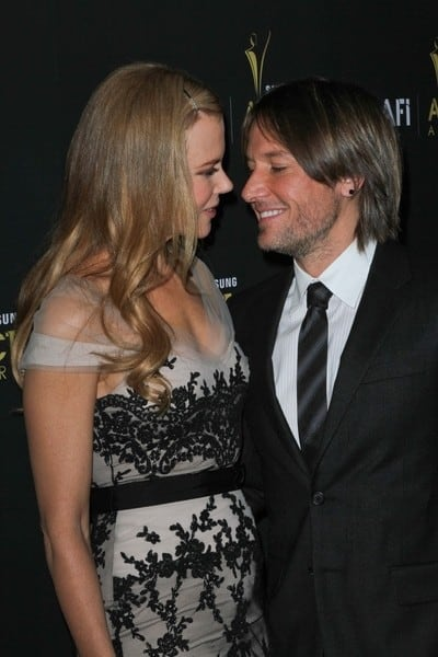 Nicole Kidman and Keith Urban, Meryl Streep, Kathy Bates, Russell Crowe Attends the 2012 Australian Academy of Cinema and Television Arts Awards at Soho House in West Hollywood, California on January 27, 2012