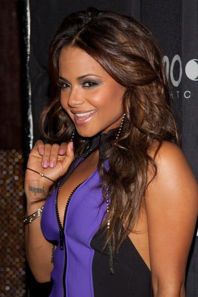 Christina Milian Hosts the Evening at Moon Nightclub in Las Vegas, Nevada on January 7, 2012