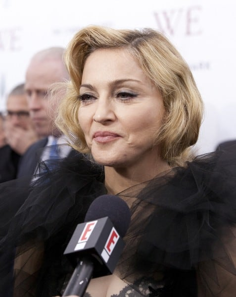 Madonna Arrives at the Premiere of 'W.E.' at the Ziegfeld Theater in New York City on January 23, 2011