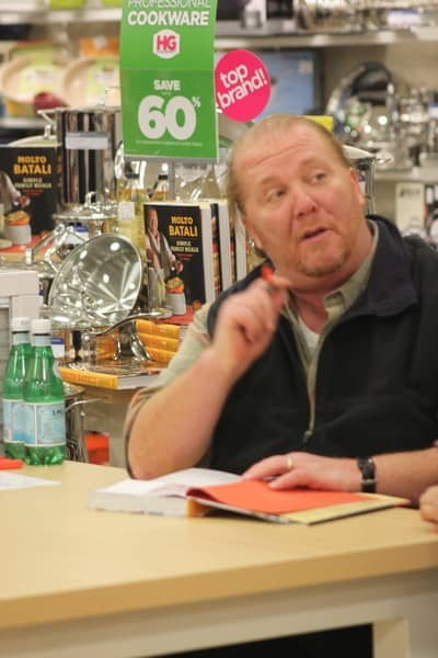 Mario Batali 'Molto Batali: Simple Family Meals from My Home to Yours' Book Signing at HomeGoods in New York City on January 19, 2012