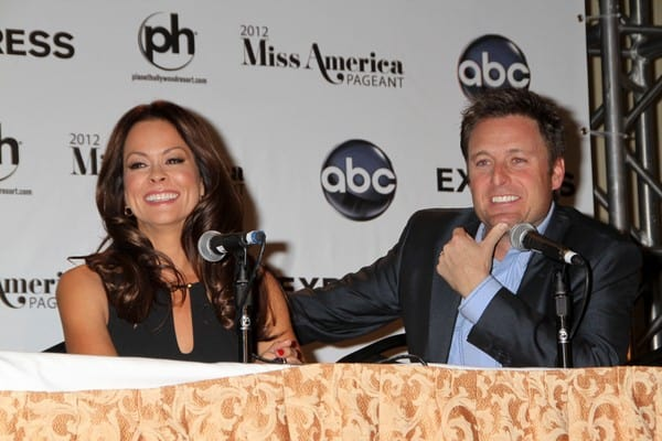 2012 Miss America Pageant Co-Hosts Press Conference with Brooke Burke and Chris Harrison at Planet Hollywood Resort & Casino in Las Vegas, Nevada on January 13, 2012