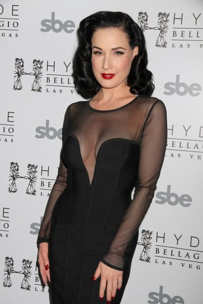 Dita Von Teese Performs at Hyde Bellagio Lounge in Las Vegas, Nevada on January 14, 2012