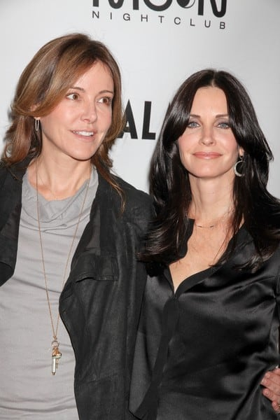 Christa Miller and Courteney Cox Attend an Exclusive Viewing Party Hosted by ABC's 'Cougar Town' Cast at Moon Nightclub in Las Vegas, Nevada on January 21, 2012