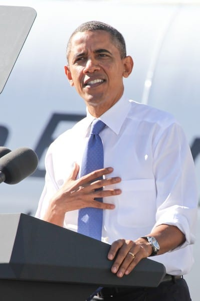 President Barack Obama Delivers an Alternative Energy Speech at the UPS Facility in Las Vegas, Nevada on January 26, 2012