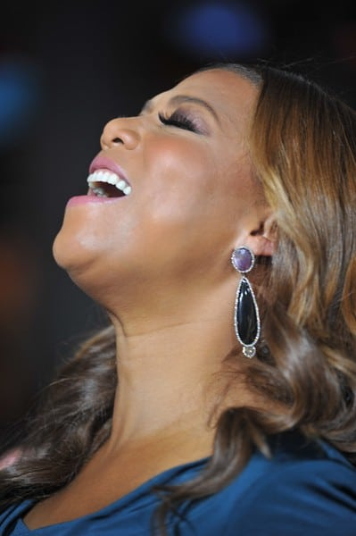 Queen Latifah Attends the 'Joyful Noise' Premiere in Los Angeles, California on January 9, 2012