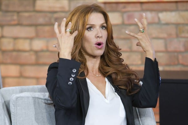 Poppy Montgomery Visits The Marilyn Denis Show in Toronto, Canada on January 13, 2012