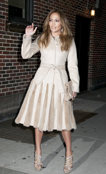 Jennifer Lopez Visits 'Late Show with David Letterman' on January 30, 2012 in New York City.