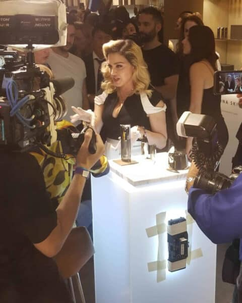 Madonna Meets at Her MDNY Skincare Launch Party in New York City