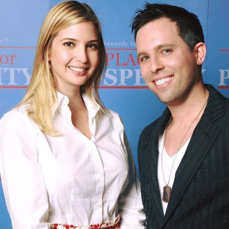 Ivanka Trump with Contact Any Celebrity founder Jordan McAuley