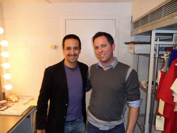 'Hamilton' creator & star Lin-Manuel Miranda with Contact Any Celebrity founder Jordan McAuley