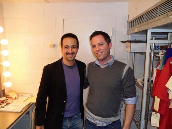 'Hamilton' creator & star Lin-Manuel Miranda with Contact Any Celebrity founder Jordan McAuley