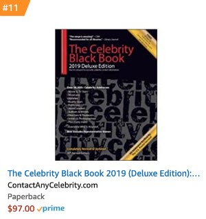 The Celebrity Black Book 2019 Amazon Bestseller