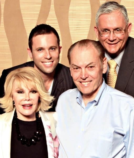 Contact Any Celebrity founder Jordan McAuley with Joan Rivers