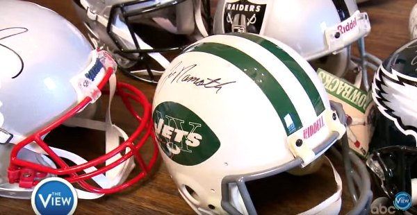 Football Helmet Signed by Joe Namath