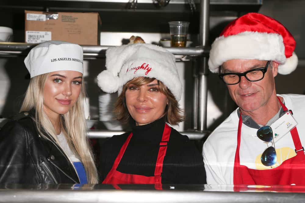 12/23/2016 - Delilah Hamlin, Lisa Rinna, Harry Hamlin - 2016 Los Angeles Mission Christmas Dinner for the Homeless - The Los Angeles Mission - Los Angeles, CA, USA - Keywords: Horizontal, Charity, Christmas Celebration, Holiday, Annual Event, Person, People, Photography, Arts Culture and Entertainment, Celebrity, Celebrities, Topix, Bestof, California Orientation: Landscape Face Count: 2 - False - Photo Credit: PRPhotos.com - Contact (1-866-551-7827) - Landscape Face Count: 2