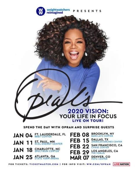 'Oprah's 2020 Vision: Your Life in Focus' Live on Tour!